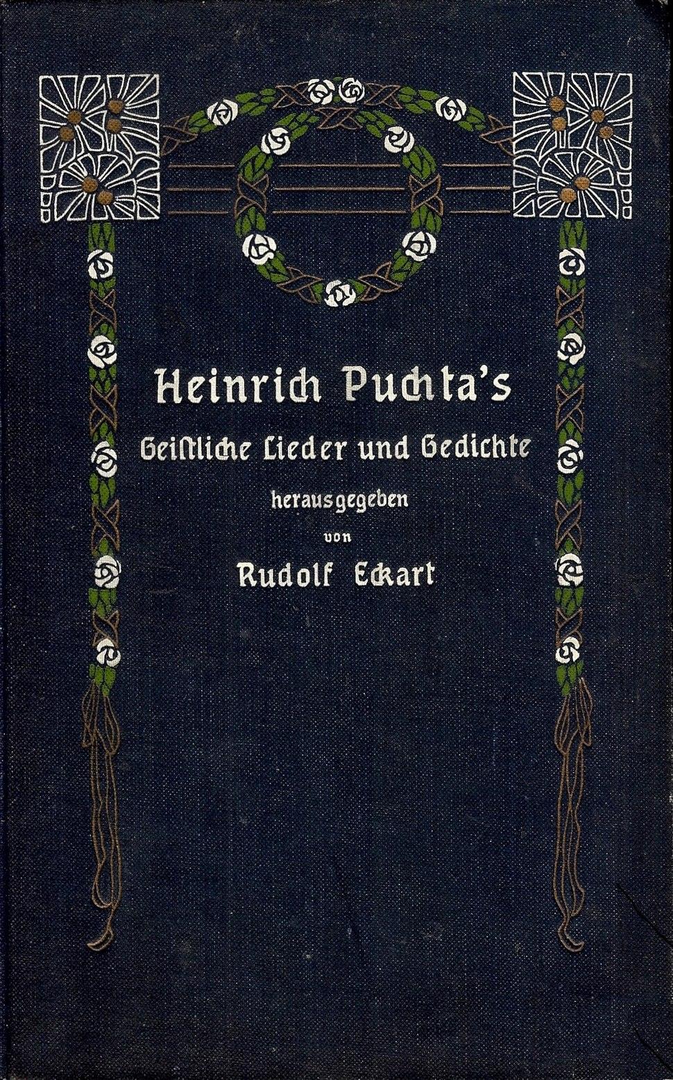 Heinrich Puchtas - Geistliche Lieder und Gedichte, Ansbach, 1908