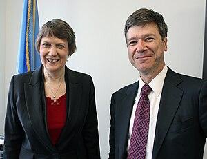 UNDP Administrator Helen Clark mets Jeffrey Sa...