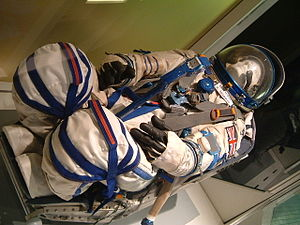 Helen Sharman - Sokol space suit worn by Sharman, at the National Space Centre in Leicester.