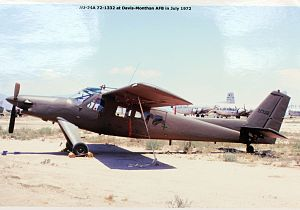 Helio AU-24A Stallion in storage at Davis-Monthan AFB, July 1972.jpg