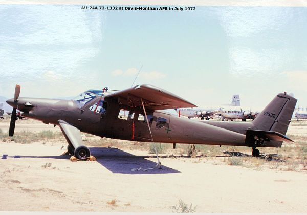 Helio AU-24A Stallion in storage at Davis-Monthan AFB, July 1972 - Helio Stallion