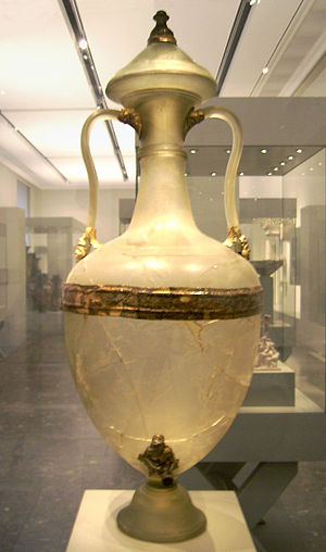 Hellenistic glass - A Greek glass amphora, 2nd half of the 2nd century BC, from Olbia, now in the Altes Museum