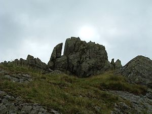 "Helm Crag - The ""Old Woman playing the Organ"" rocks."