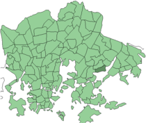 Position of Marjaniemi within Helsinki