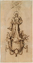 Design for a statue of the Madonna