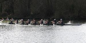 Women's Boat Race - Henley Boat Races 2009: Oxford Women (dark blue) lead Cambridge Women