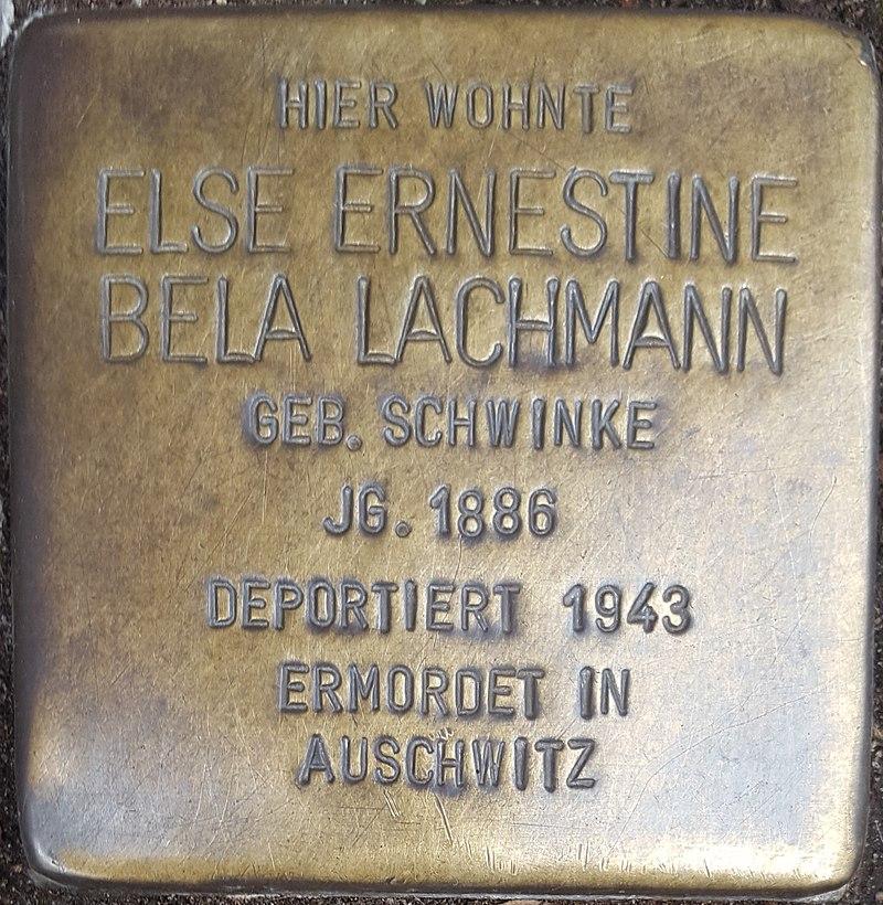 Hennigsdorf Stolperstein Hauptstrasse 13 - Else Lachmann.jpg