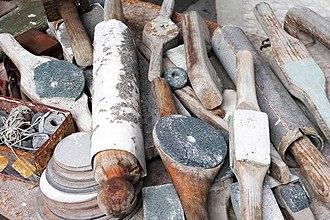 Barbara Hepworth Museum - Close up of Hepworth's tools, in the workshop