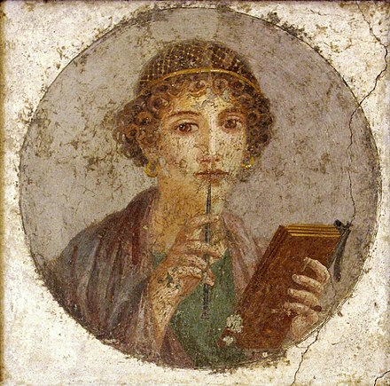 Portrait of a literary woman from Pompeii (ca. 50 AD) Herkulaneischer Meister 002.jpg