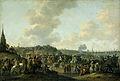 Het vertrek van Karel II van Engeland uit Scheveningen, 2 juni 1660 Rijksmuseum SK-A-252.jpeg