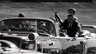 ArmaLite AR-15 - Photograph of Secret Service agent George W. Hickey with an ArmaLite AR-15 moments after President Kennedy was shot in Dallas on November 22, 1963.