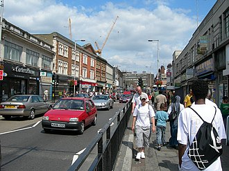 Wembley - High Road, near the local station, looking east