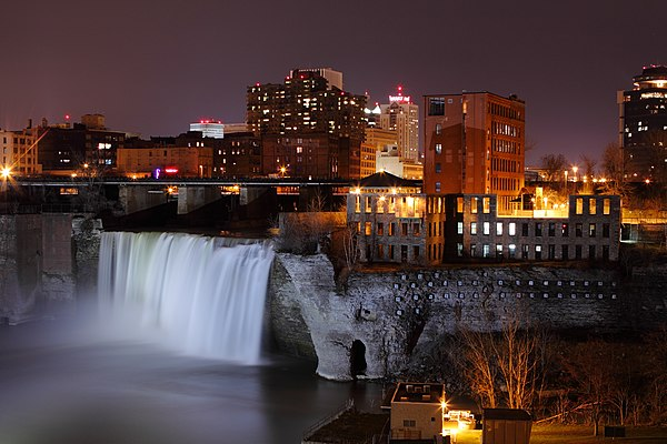 High Falls in 2009 Highfallsrochester.jpg