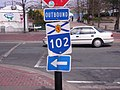 Highway 102 Outbound directional marker.jpg