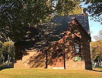 Hillside Cemetery (Clarendon, New York) - Image: Hillside Cemetery Chapel West Side