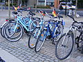 Hire bikes of the London Bicycle Tour Company, Royal Albert Dock E16 (7721474172).jpg