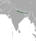 Aire de répartition du Lièvre d'Assam