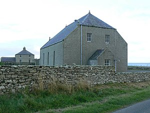 Holm, Orkney - Holm church and manse.