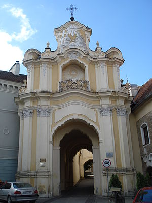 Johann Christoph Glaubitz - Basilian Gate of the Holy Trinity monastery in Vilnius