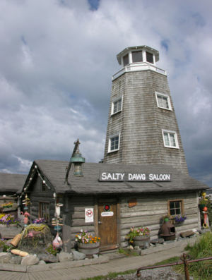 Homer, Alaska - Landmark: the Salty Dawg Saloon.
