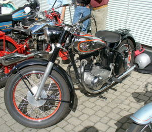 "Single-cylinder engine - Motorbike Horex ""Regina"" with one-cylinder-four-stroke-engine"