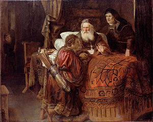 Jacob and Esau - Horst, Gerrit Willemsz. - Isaac blessing Jacob