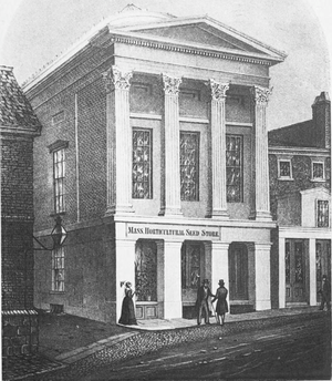 Horticultural Hall, Boston (1845) - Horticultural Hall, School Street, Boston, ca.1840s