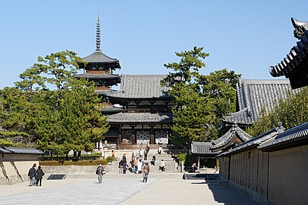 Horyu-ji is widely known to be the oldest wooden architecture existing in the world. Horyu-ji45s2s4500.jpg