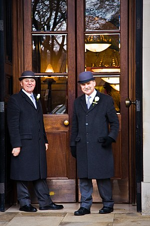 Doorman (profession) - Hotel doormen in London