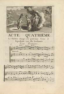 Lully, Thesée, Beginn des 4. Aktes (Quelle: Wikimedia)