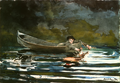 Hound and Hunter sketch by Winslow Homer, 1892.png