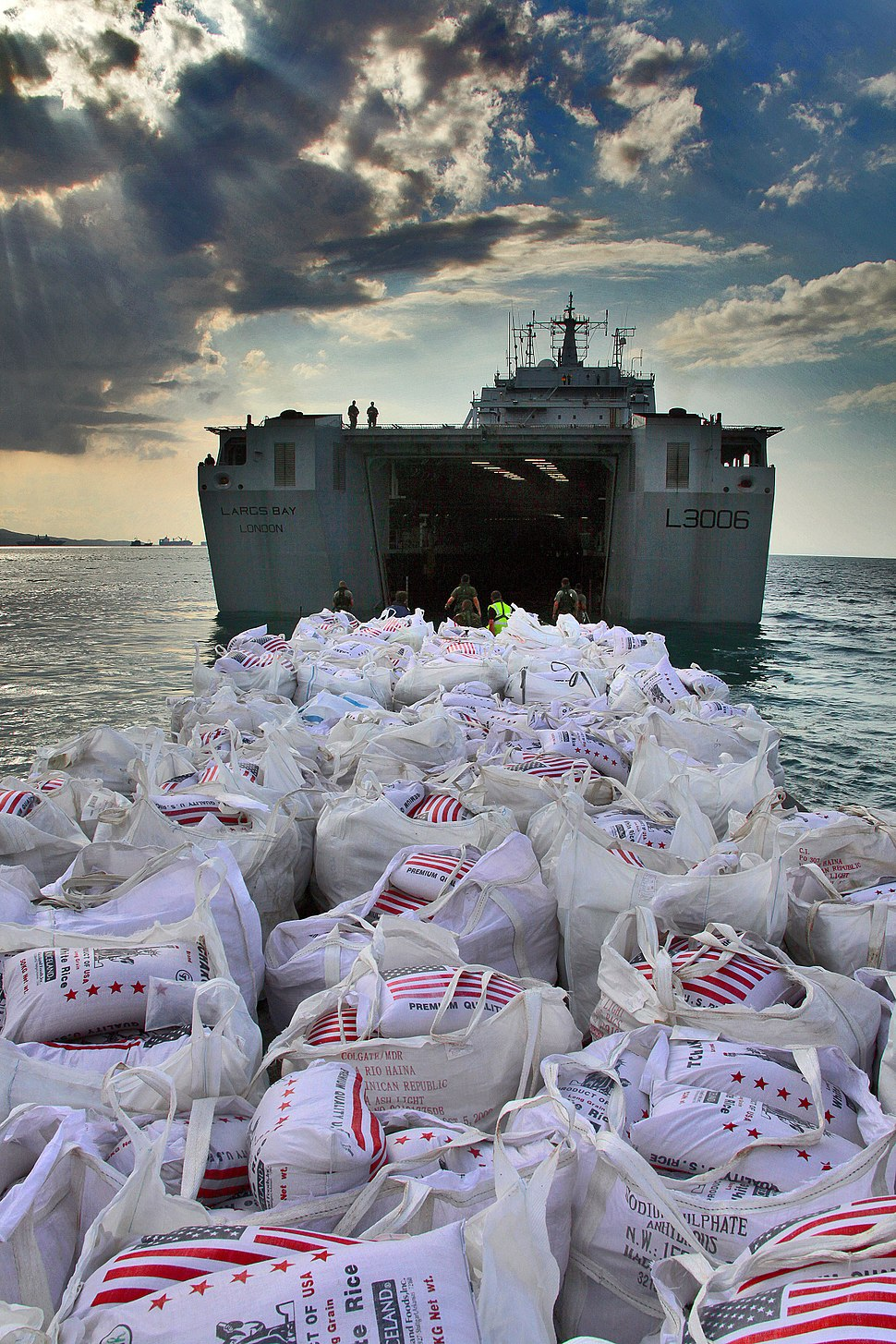 Humanitarian Supplies are Delivered to Haiti from the UK MOD 45151172