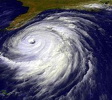 Immagine satellitare di Floyd al largo della Florida