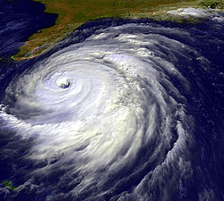Satellite Image of Hurricane Floyd.