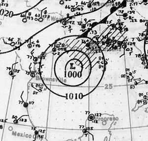 1926 Atlantic hurricane season - Image: Hurricane Three Analysis 25 Aug 1926
