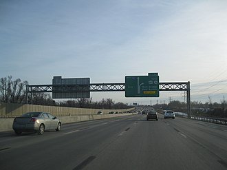Interstate 90 in New York - Approaching exit 54 on I-90 westbound in West Seneca