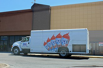 The Icee Company - Icee delivery truck at a Walmart in Ypsilanti Township, Michigan