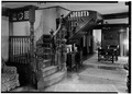 INTERIOR, STAIRHALL - William E. Emery House, 3 East Main Street, Flemington, Hunterdon County, NJ HABS NJ,10-FLEM,5-4.tif