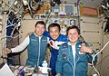 ISS-18 Michael Barratt, Koichi Wakata and Charles Simonyi.jpg