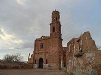 Iglesia a la entrada belchite.JPG