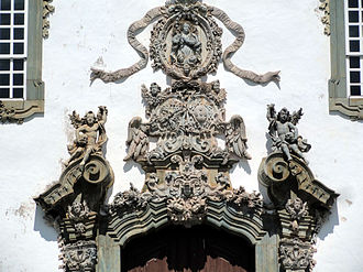 Church of Saint Francis of Assisi (Ouro Preto) - Soapstone frontispiece above main entrance to the church