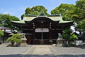 Ikune-jinja (Sumiyoshi, Osaka), haiden.jpg