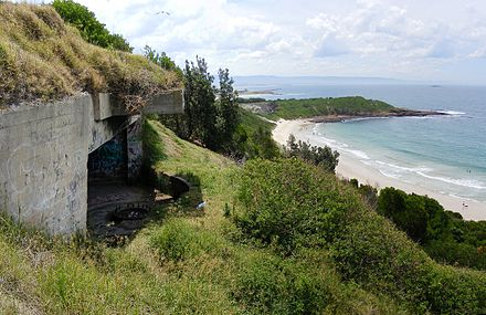 The Illowra Battery, or Hill 60, was intended to defend Port Kembla in the event of a seaborne attack during World War II Illowra battery aka hill 60.jpg