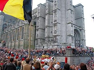 Ducasse de Mons - Raising of the Car d'Or
