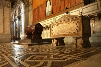 Monreale Cathedral - Sarcophagi of William I and William II of Sicily.