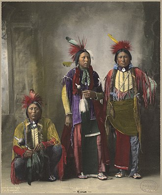 Kiowa - Three Kiowa men, 1898