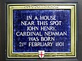 In a house near this spot John Henry Cardinal Newman was born 21st February 1801.jpg