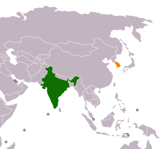 Diplomatic relations between the Republic of India and South Korea