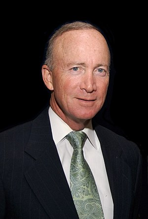 Mitch Daniels after an award ceremony