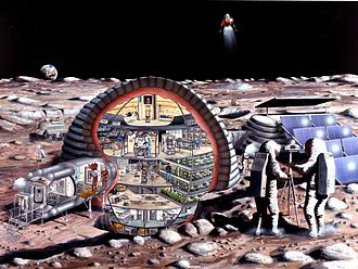 Lunar outpost (NASA) - Image: Inflatable habitat s 89 20084